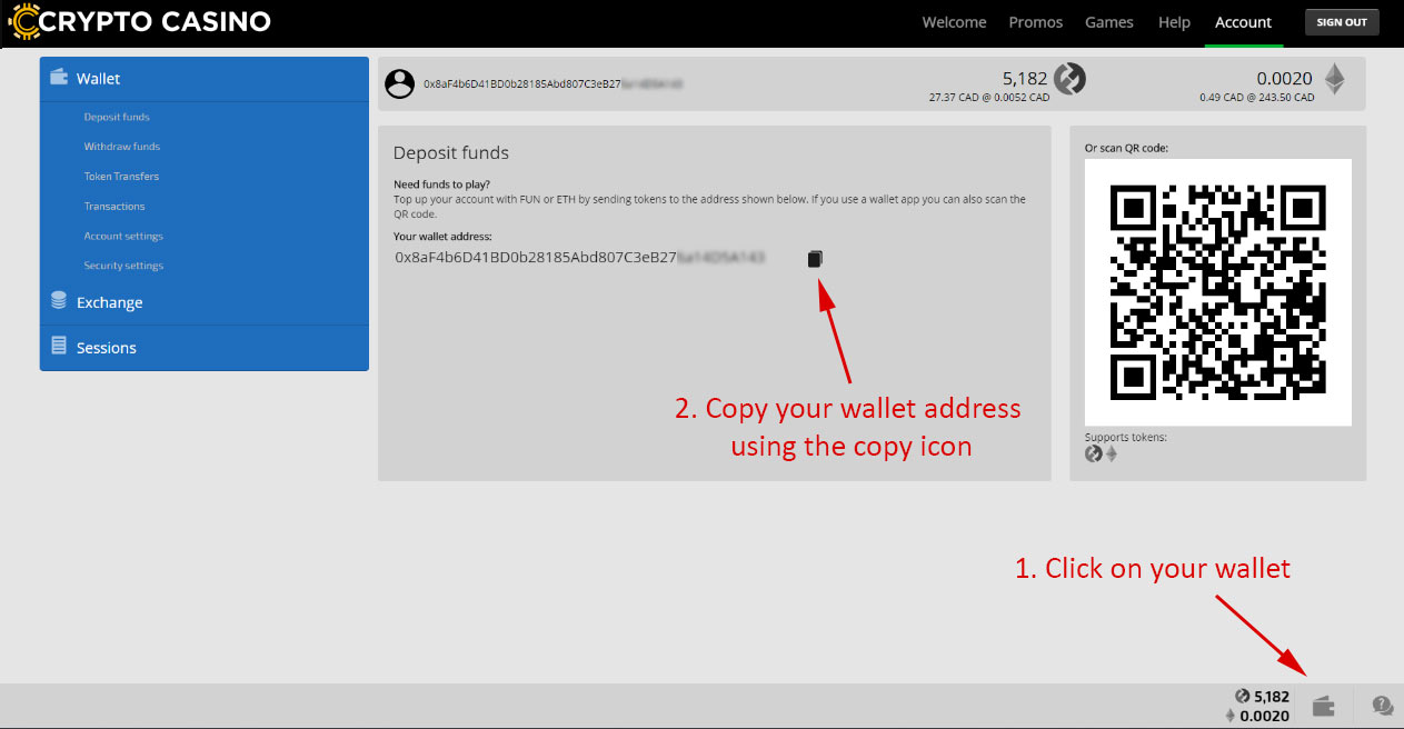 Wallet address example